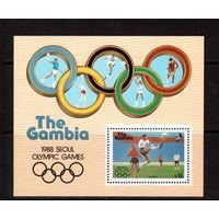 Гамбия-1987 (Мих.Бл.38) **  , Спорт, футбол, ОИ-1988