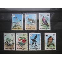 Марки - птицы, фауна Гренада 7 шт