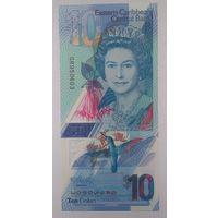 Восточные Карибы 10 долларов 2019 года UNC