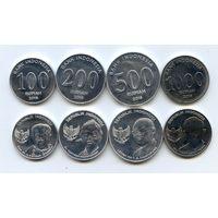 Индонезия НАБОР 4 монеты 100, 200, 500, 1000 рупий 2016 UNC НОВИНКА