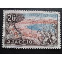 Франция 1954 о-в Корсика, флора