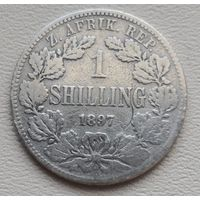 Южная Африка 1 шиллинг 1897, серебро