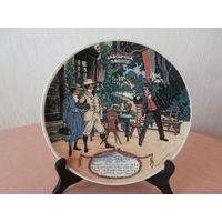 Тарелка 3 коллекционная фарфор художник Frederic Regamey изготовитель Sarreguemines Франция диаметр 22.5 см.