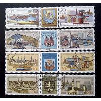ГДР 1976,78,80,82 г.  Архитектура, 4 полные серии, 12 марок #0025-A1