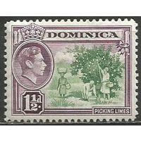 Доминика. Король Георг VI. Сбор фруктов. 1938г. Mi#95.