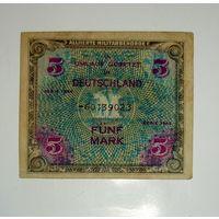 5 марок 1944 г. Сов. оккупация. Германия. Р-193 С 3 рублей!