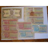 Набор банкнот Украины