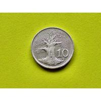 Зимбабве. 10 центов 1997.