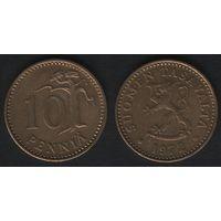 Финляндия km46 10 пенни 1972 год (S) (f31)*