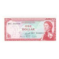 Восточно-Карибские Штаты 1 доллар образца 1965 года. Состояние aUNC+! Редкая!