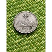 Гватемала 1/4 реала 1900 г