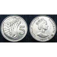 W: Каймановы острова 5 центов 1987 (835)