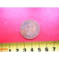 Китайская медная старинная монета. 8
