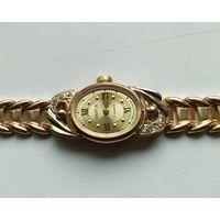 Часы ЧАЙКА с браслетом. Золото