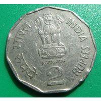 Индия,2рупии1999г.