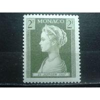 Монако 1957 Рождение принцессы Каролины, княгиня Патрисия** 2фр