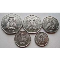 Сан - Томе и Принсипи. Набор из 5 монет 100, 250, 500, 1000, 2000 добра 1997 год