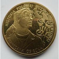 """Польша 2 злотых 2013 """"История польской музыки - Агнешка Осецкая"""""""