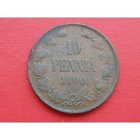 10 пенни 1900 года. Медь.