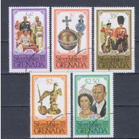 [980] Гренада 1977. Елизавета II.Серебряная свадьба. Гашеная серия.