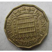 Великобритания. 3 пенса 1964   .6 А-189