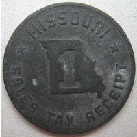 Жетон налоговый штата Миссури. США