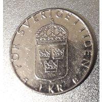 Швеция, 1 крона, 1999 год, медь-никель