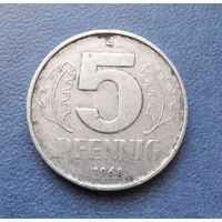 5 пфеннигов 1968 год (А) ГДР #03