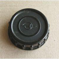 Крышка задняя карболитовая резьбовая М39 эмблема Загорского оптико-механического завода