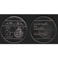 Аруба _km6 2 1/2 флорина 1989 год (ba) (b06)