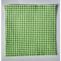 Салфетка для декупажа. Зеленая мелкая клетка. 33х33см
