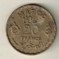 Марокко 20 франк 1952