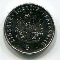 (A4) ГАИТИ - 5 СЕНТИМО 1995 UNC