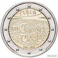 2 евро 2019 Ирландия Дойл Эрен UNC из ролла