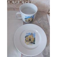 Чашка и блюдце (большие) Несвижский замок
