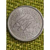 Камерун  1 франк 1969 г ( Экваториальные Африканские Штаты  )