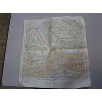 Карта Генерального штаба. Делемон(Франция-Швейцария). ДСП. 1977 г.