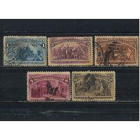 США 1893 400-летие открытия Америки Х.Колумбом #73,74,77,79,80