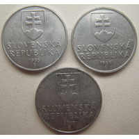 Словакия 10 геллеров 1993, 1999, 2000 гг. Цена за 1 шт.