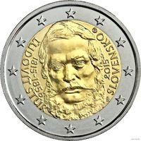 2 евро 2015 Словакия 200 лет со дня рождения Людовита Штура UNC из ролла