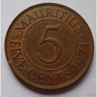 Маврикий 5 центов 1971г.