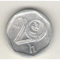 20 геллеров 1998 г. Чехия.