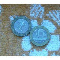 Франция 10 франков 1990 года