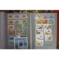 Подборка марок с динозаврами