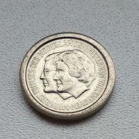 Нидерланды 5 центов, 1980 Маргарита Нидерландская и Питер ван Волленховен 4-10-12