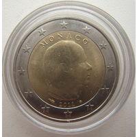Монако 2 евро 2011 г.