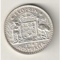 Австралия 1 флорин 1947