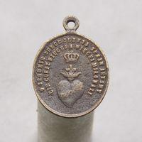 Католический церковный медальон с Сердцем Господем