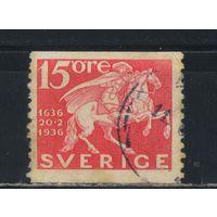 Швеция 1936 300-летие шведской почты Почтальон #229