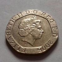 20 пенсов, Великобритания 2008 г.